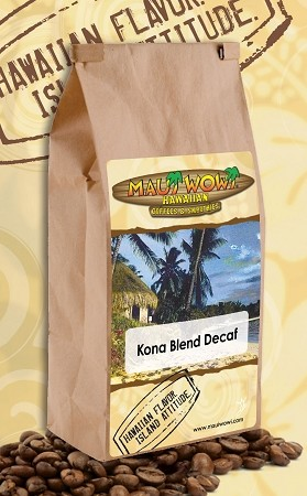 Decaf 10% Kona Blend Coffee - 12 oz Bag
