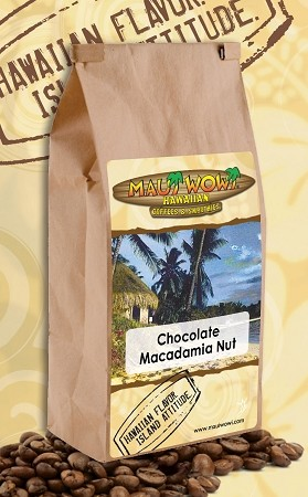 Maui Wowi Chocolate Macadamia Nut Flavored Coffee - (6) 12 oz bags per CASE